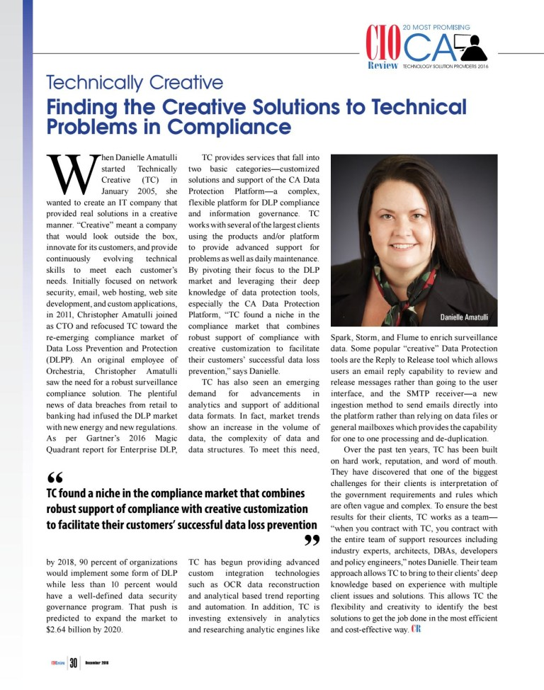 CA Technologies Magazine Article