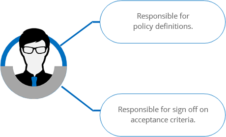 Responsible for policy definitions Policy Migration