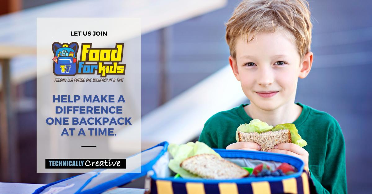 Food for Kids Back Pack